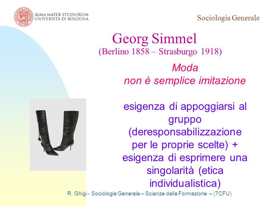 Georg Simmel Moda non è semplice imitazione