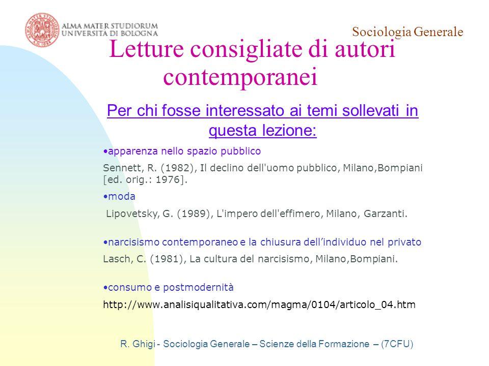 Letture consigliate di autori contemporanei