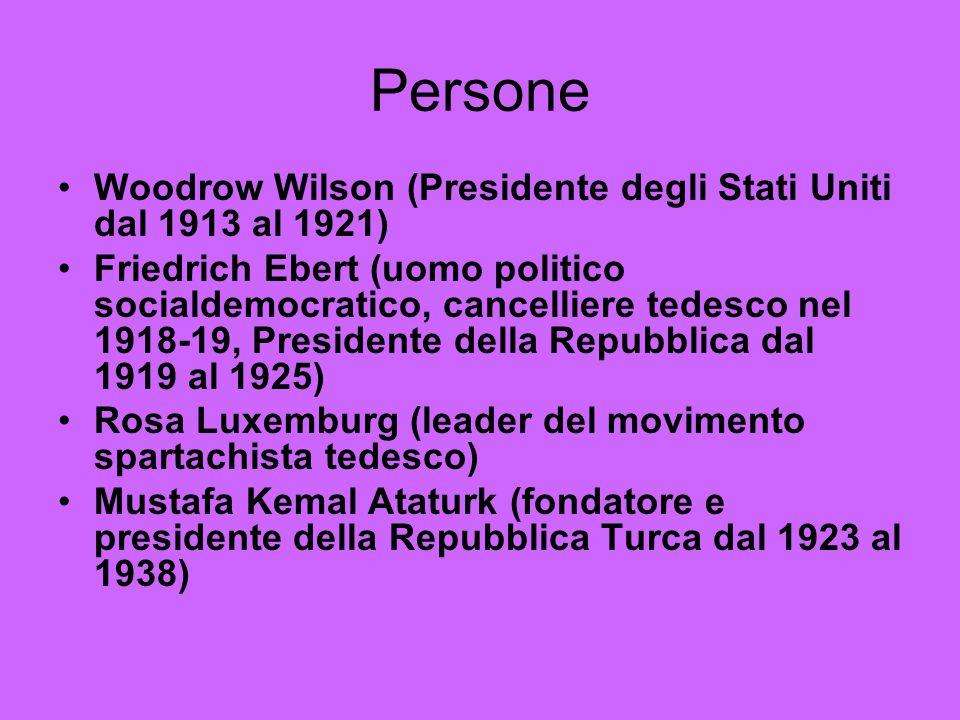Persone Woodrow Wilson (Presidente degli Stati Uniti dal 1913 al 1921)