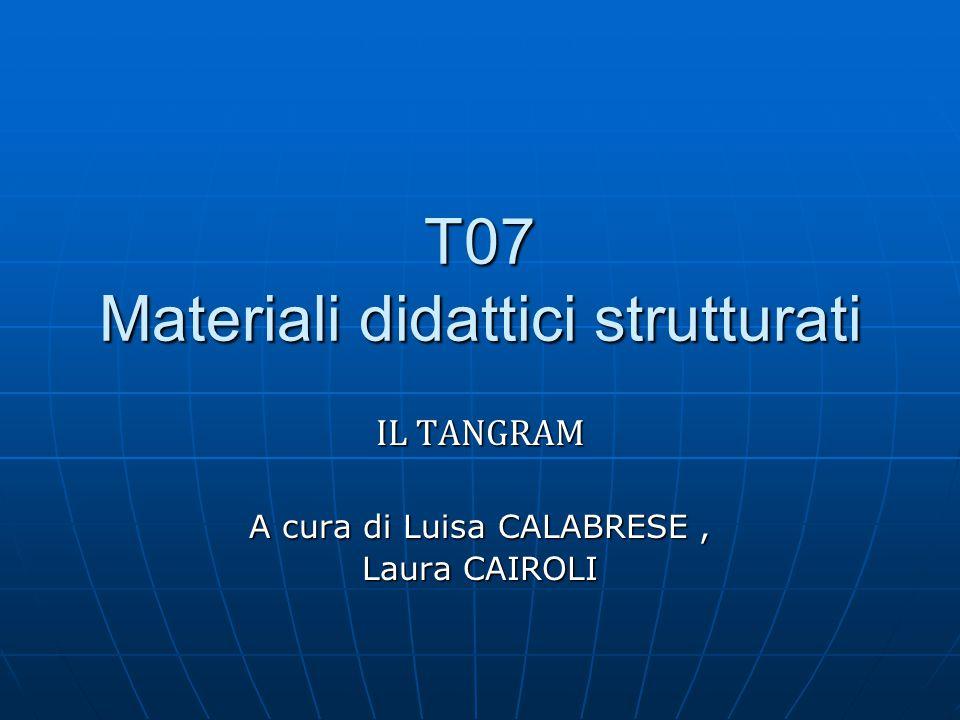 T07 Materiali didattici strutturati