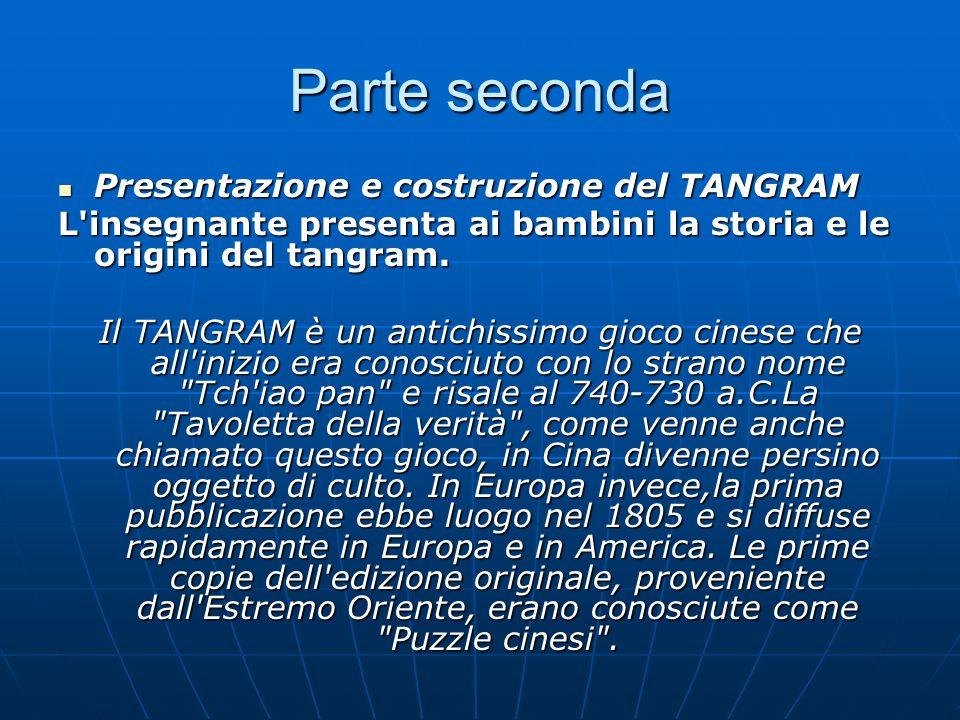 Parte seconda Presentazione e costruzione del TANGRAM