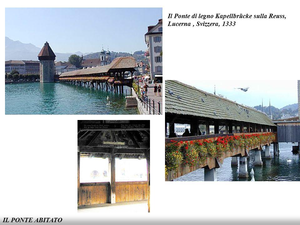 Il Ponte di legno Kapellbrücke sulla Reuss, Lucerna , Svizzera, 1333