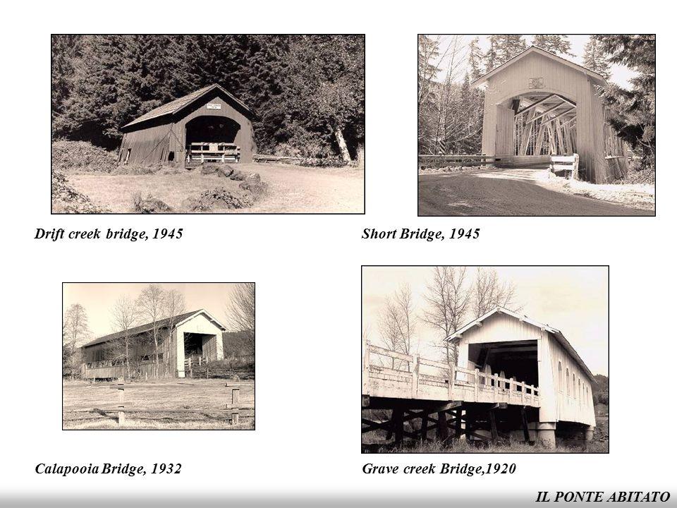 Drift creek bridge, 1945 Short Bridge, 1945. Calapooia Bridge, 1932.