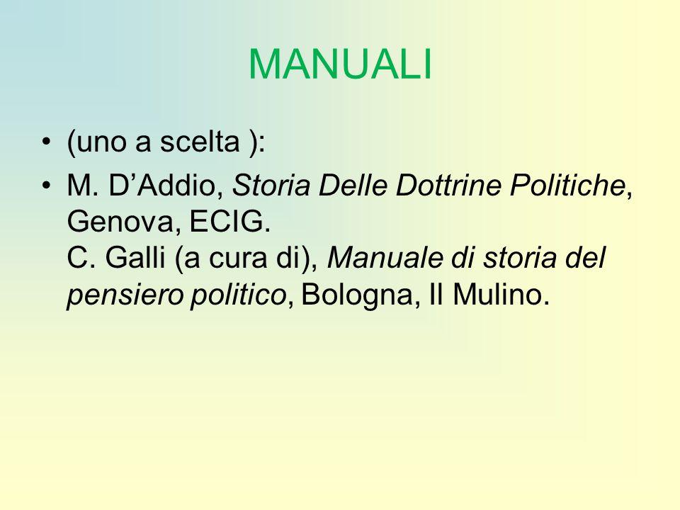 MANUALI (uno a scelta ):