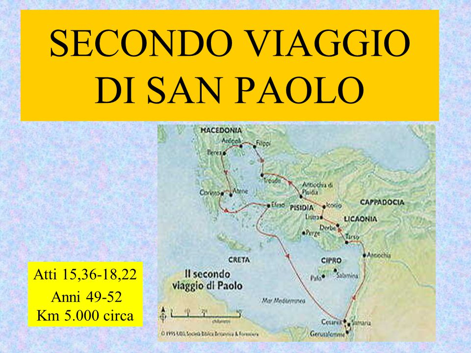 SECONDO VIAGGIO DI SAN PAOLO