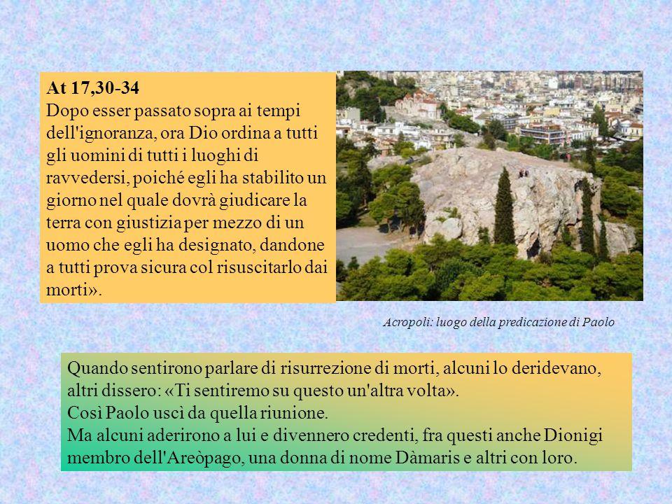 Acropoli: luogo della predicazione di Paolo