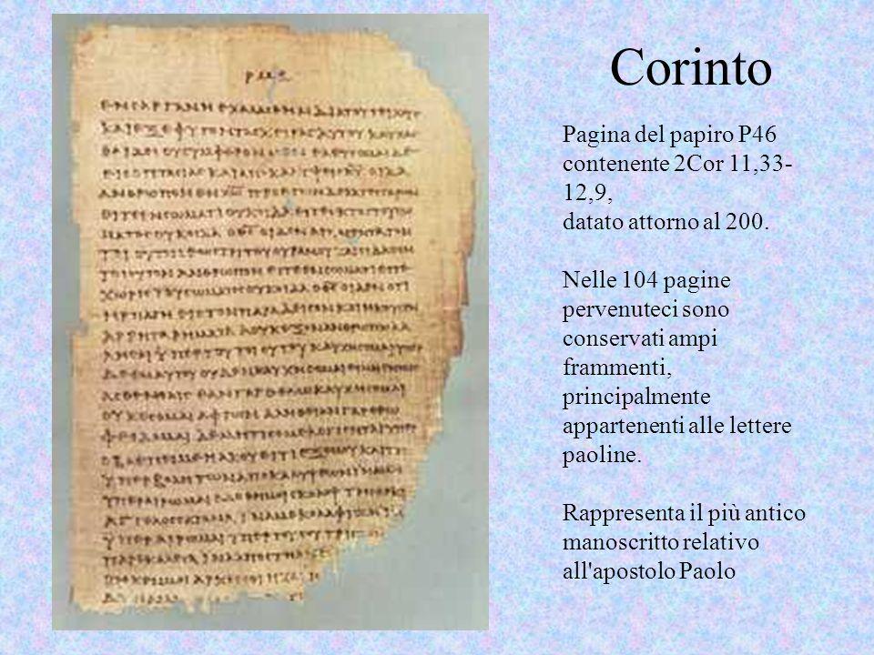 Corinto Pagina del papiro P46 contenente 2Cor 11,33-12,9,