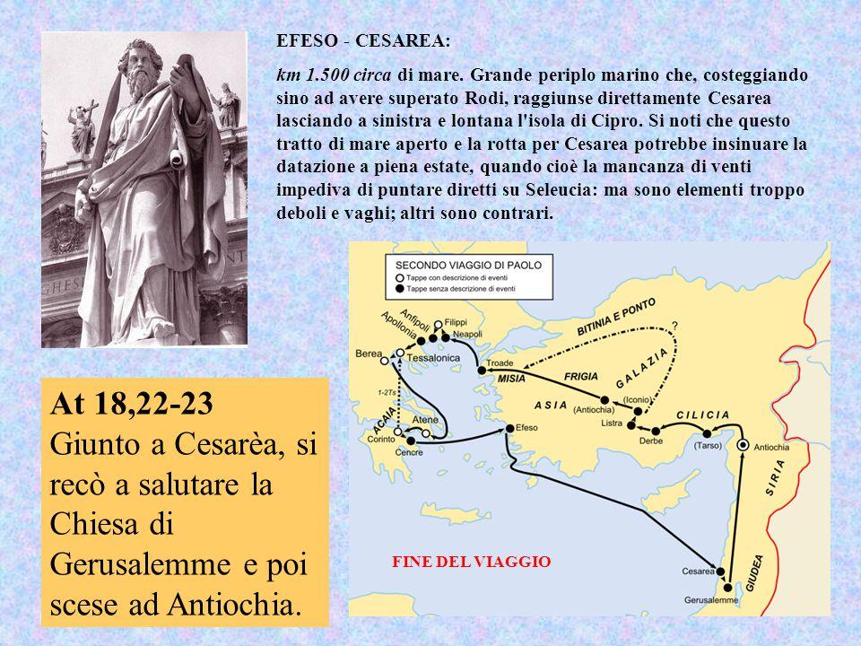EFESO - CESAREA: