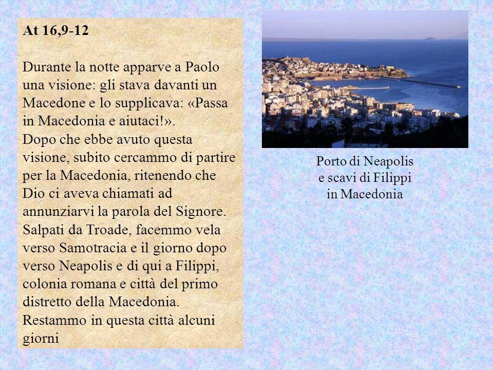 Porto di Neapolis e scavi di Filippi in Macedonia