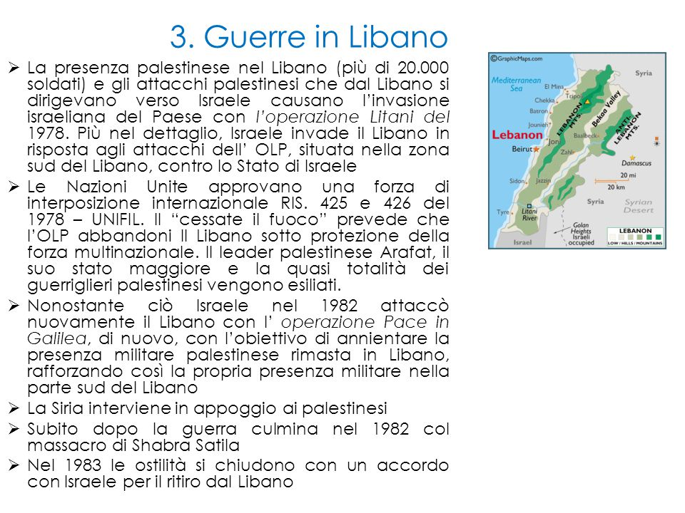 3. Guerre in Libano