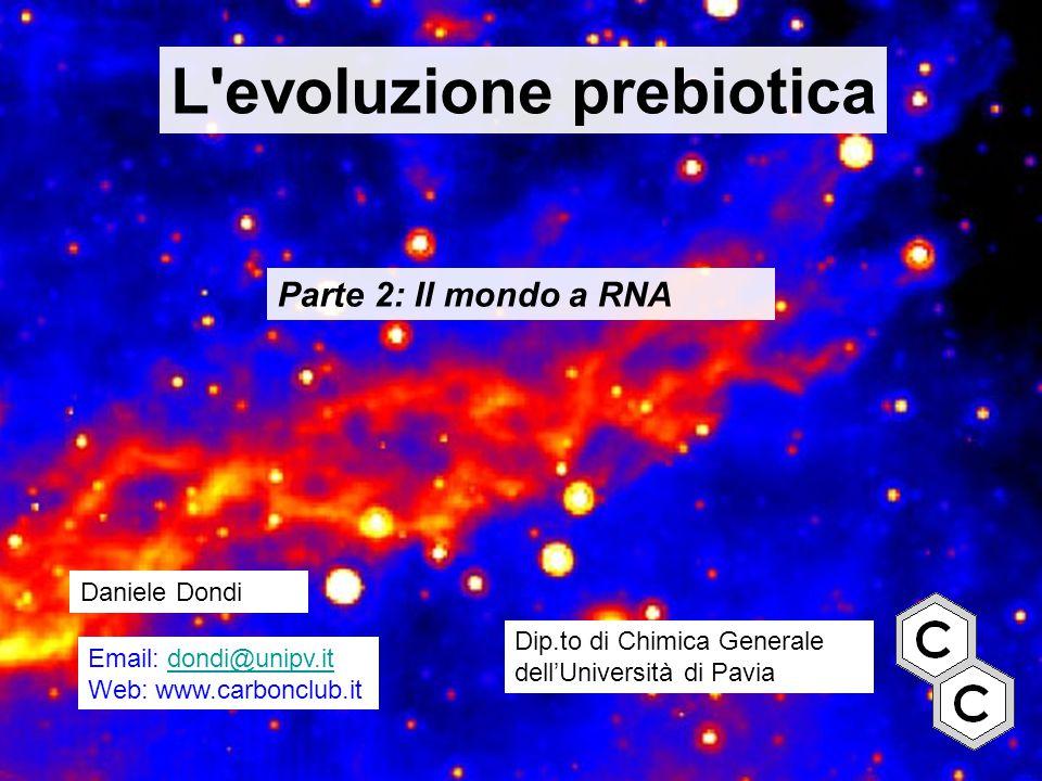 L evoluzione prebiotica
