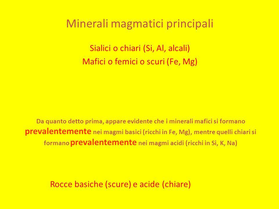 Minerali magmatici principali