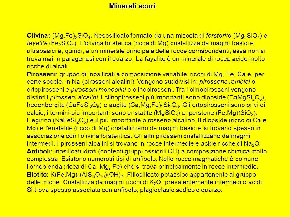 Minerali scuri