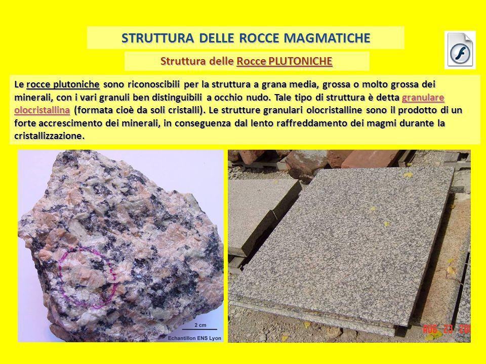STRUTTURA DELLE ROCCE MAGMATICHE Struttura delle Rocce PLUTONICHE