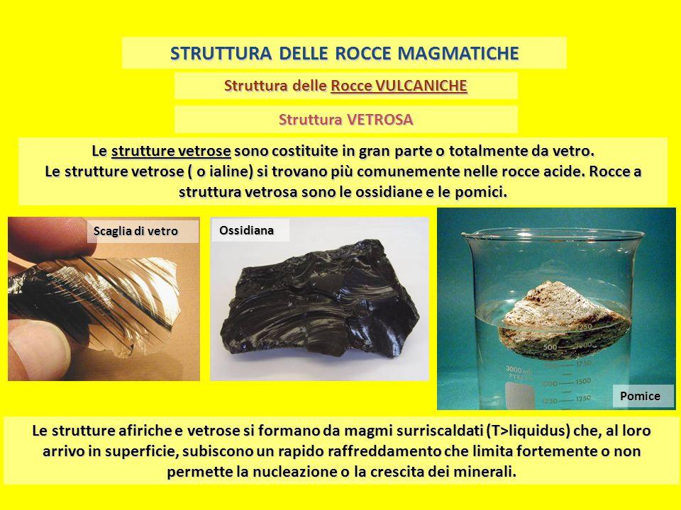 STRUTTURA DELLE ROCCE MAGMATICHE Struttura delle Rocce VULCANICHE