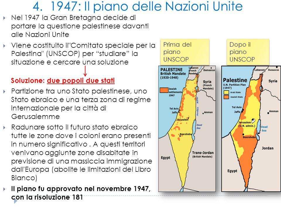 4. 1947: Il piano delle Nazioni Unite