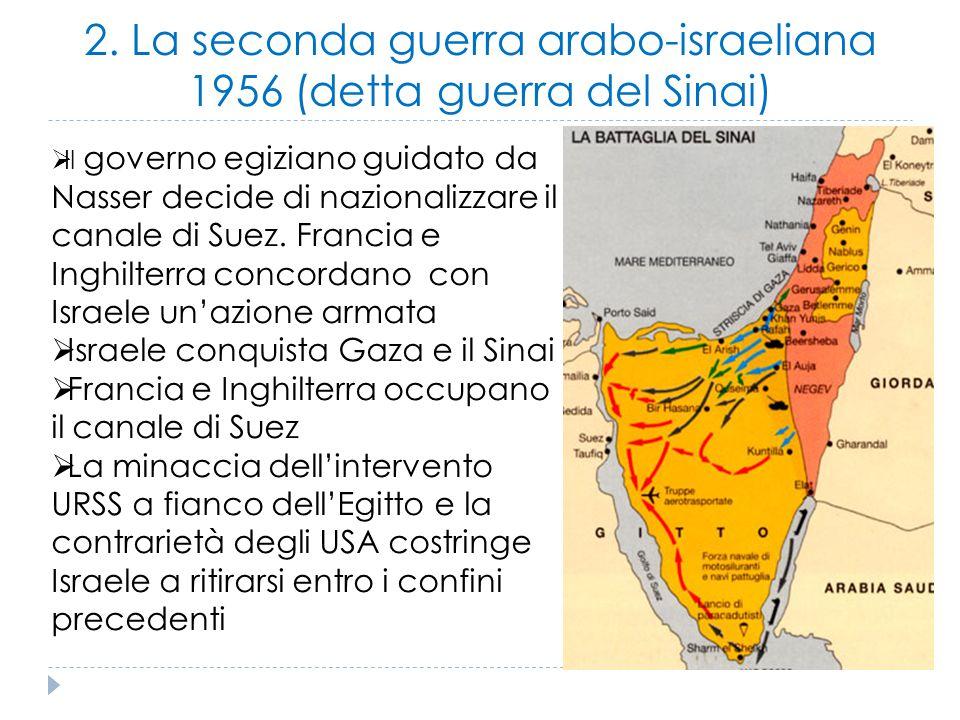 2. La seconda guerra arabo-israeliana 1956 (detta guerra del Sinai)