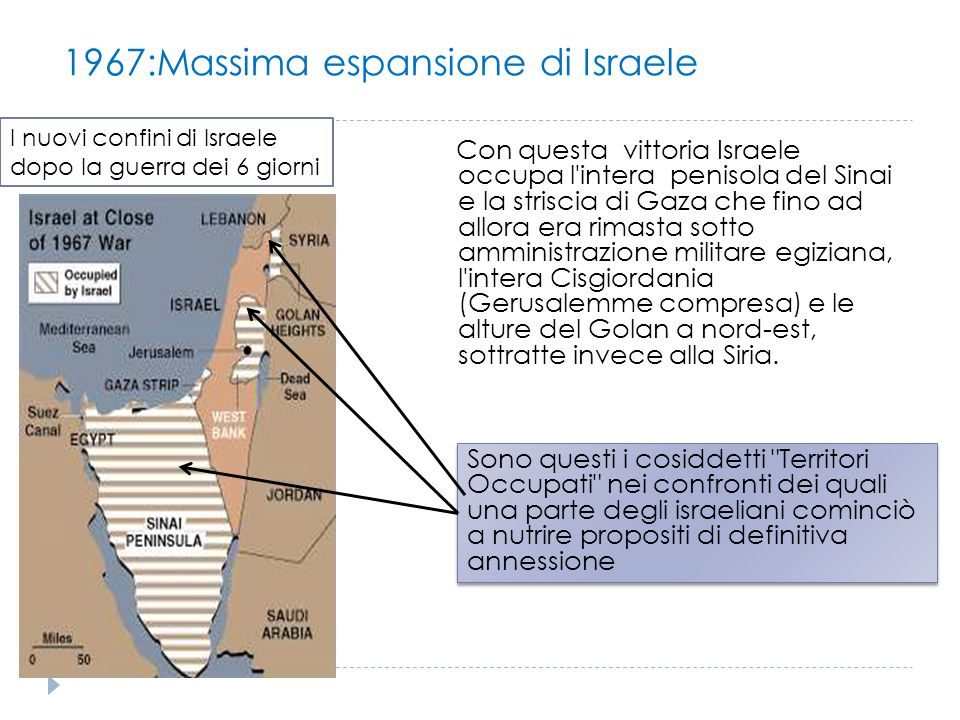 1967:Massima espansione di Israele