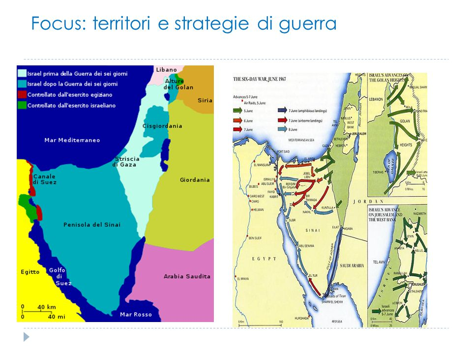 Focus: territori e strategie di guerra