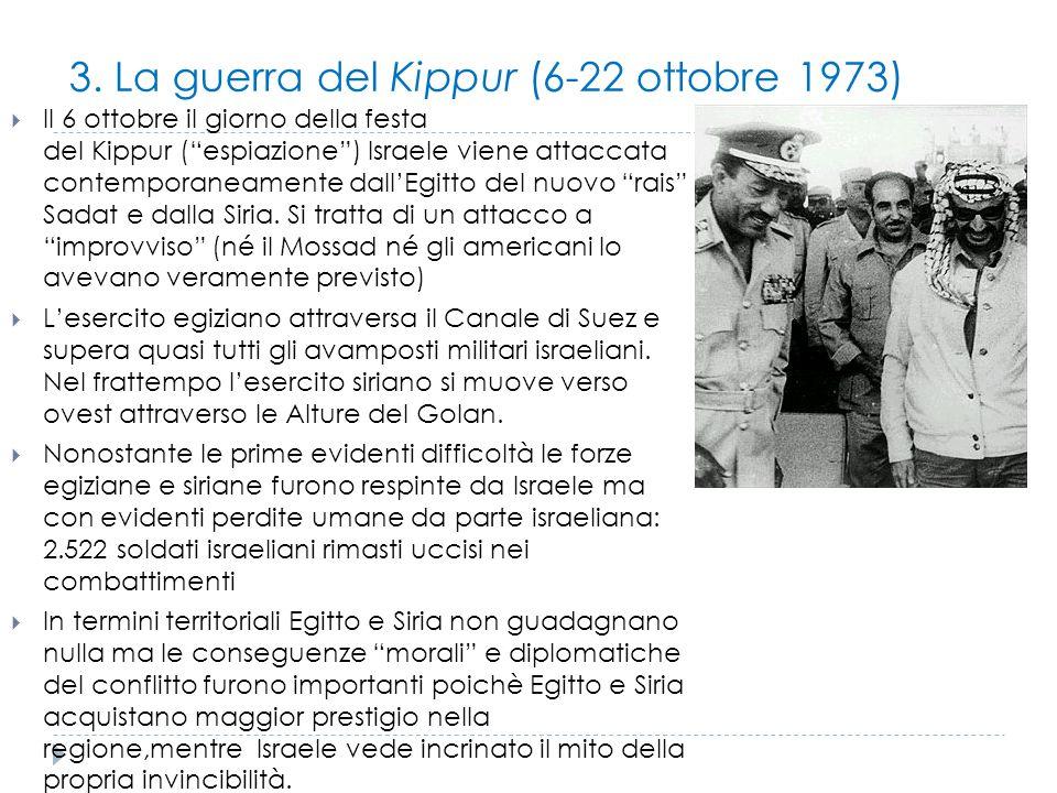 3. La guerra del Kippur (6-22 ottobre 1973)