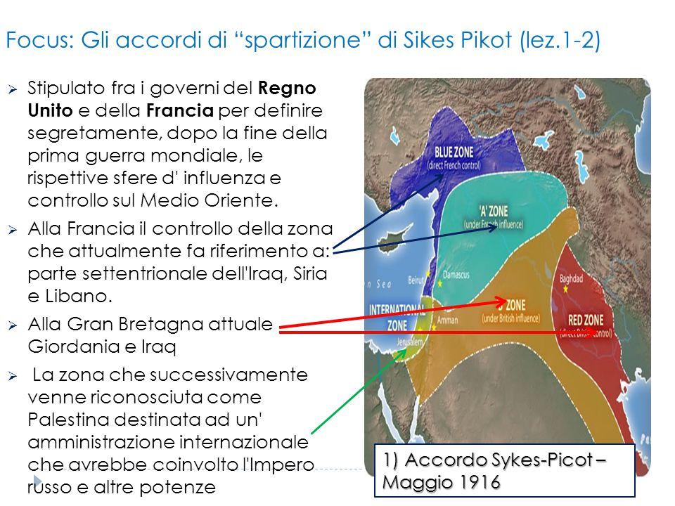 Focus: Gli accordi di spartizione di Sikes Pikot (lez.1-2)