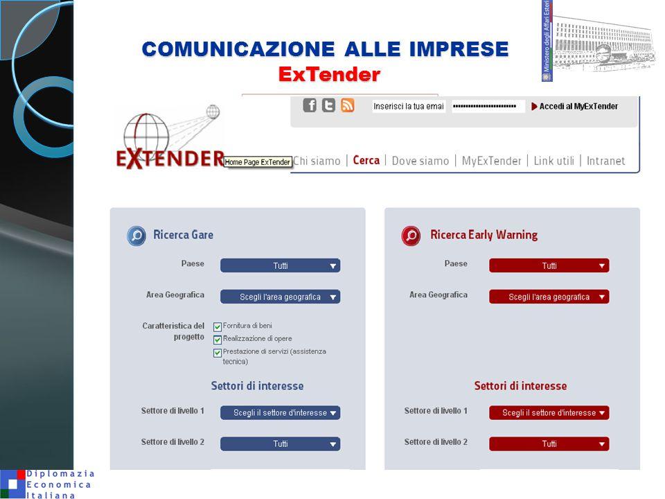 COMUNICAZIONE ALLE IMPRESE ExTender