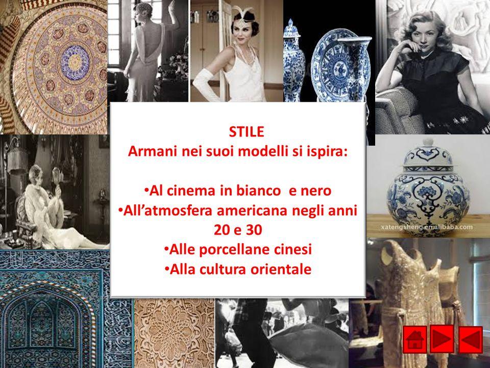 Armani nei suoi modelli si ispira: Al cinema in bianco e nero