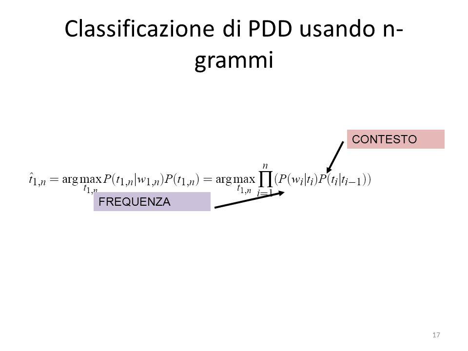 Classificazione di PDD usando n-grammi