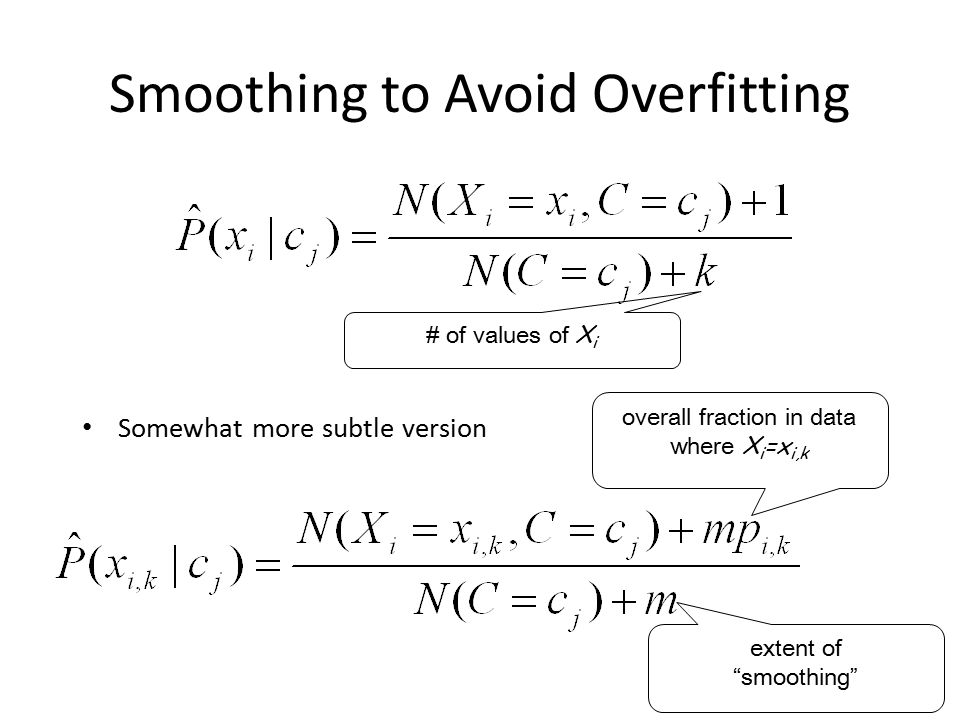 Smoothing to Avoid Overfitting