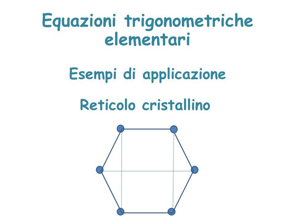 Equazioni trigonometriche elementari Esempi di applicazione