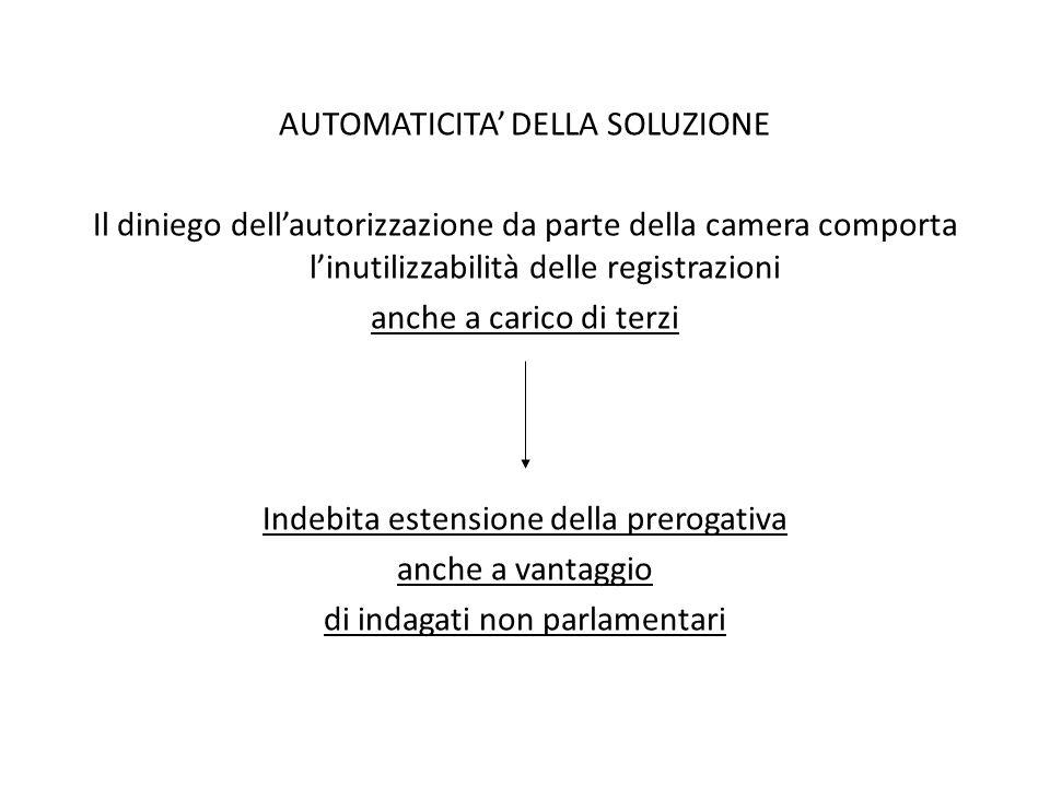 AUTOMATICITA' DELLA SOLUZIONE