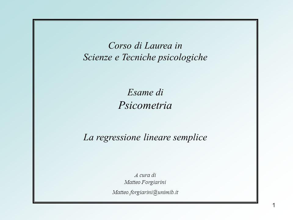 Corso di Laurea in Scienze e Tecniche psicologiche