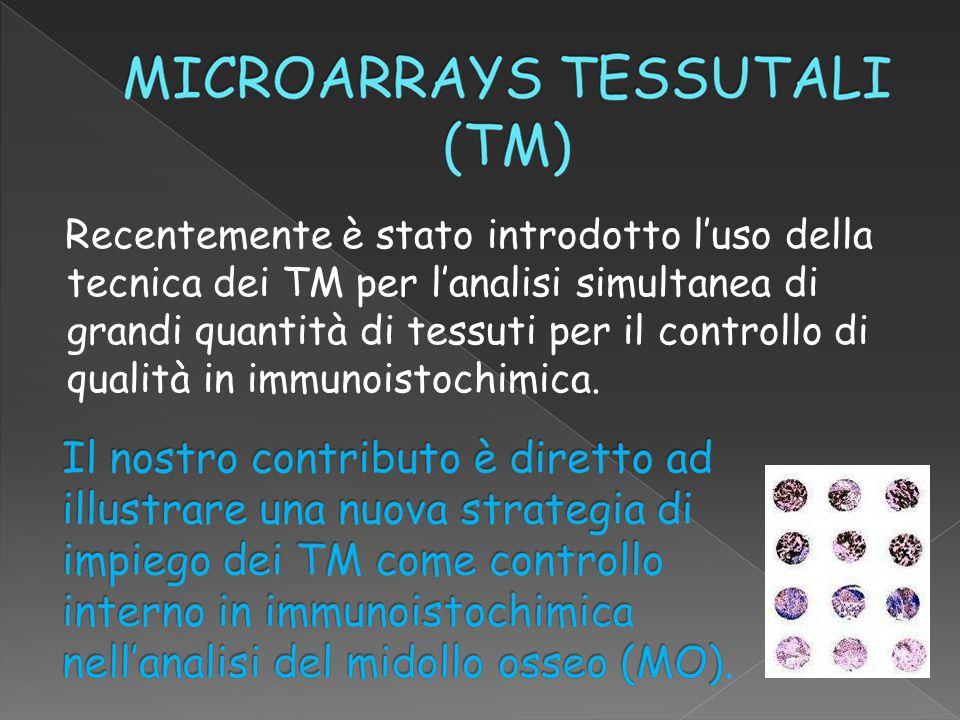 Recentemente è stato introdotto l'uso della tecnica dei TM per l'analisi simultanea di grandi quantità di tessuti per il controllo di qualità in immunoistochimica.