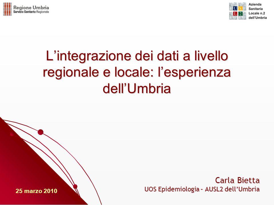 Carla Bietta UOS Epidemiologia – AUSL2 dell'Umbria