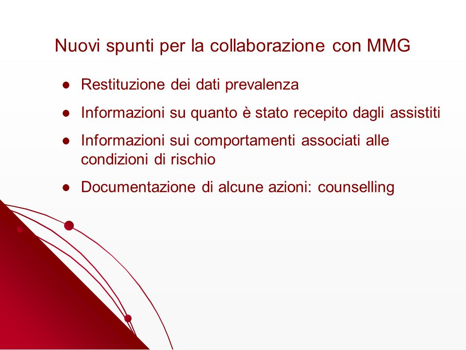 Nuovi spunti per la collaborazione con MMG