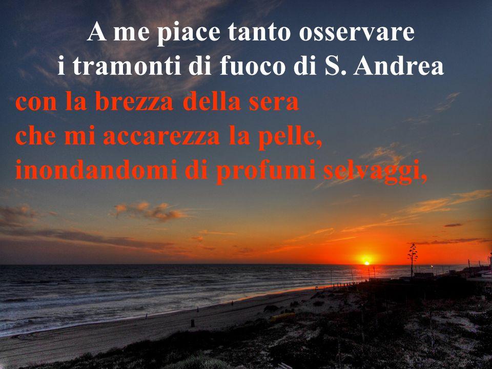 A me piace tanto osservare i tramonti di fuoco di S. Andrea