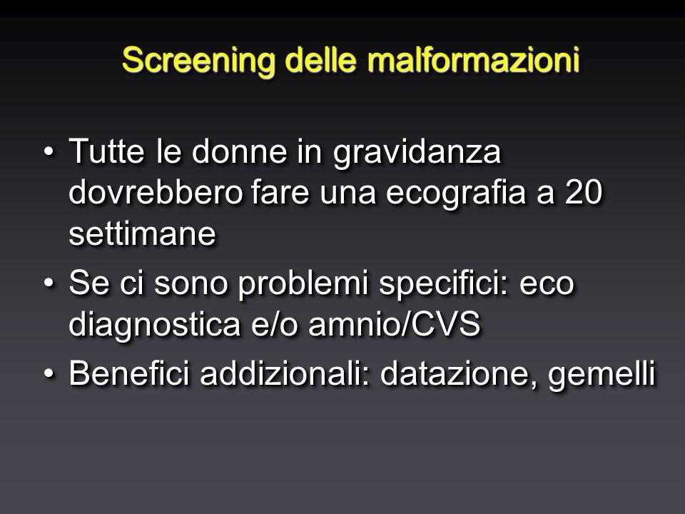 Screening delle malformazioni