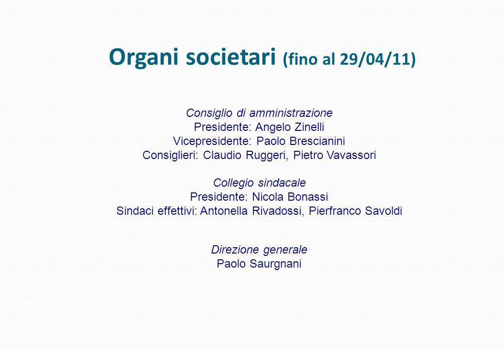 Organi societari (fino al 29/04/11)