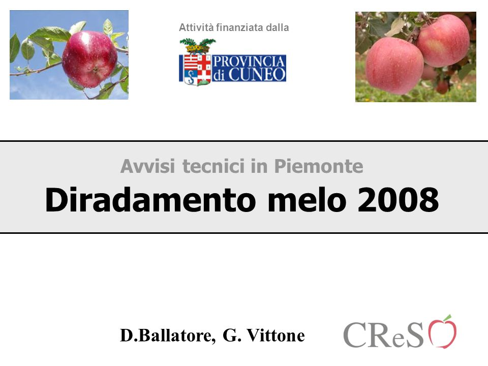Avvisi tecnici in Piemonte