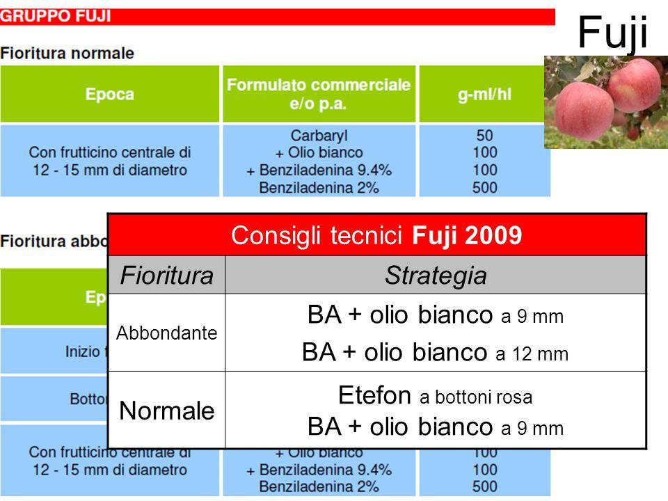 Fuji Consigli tecnici Fuji 2009 Fioritura Strategia