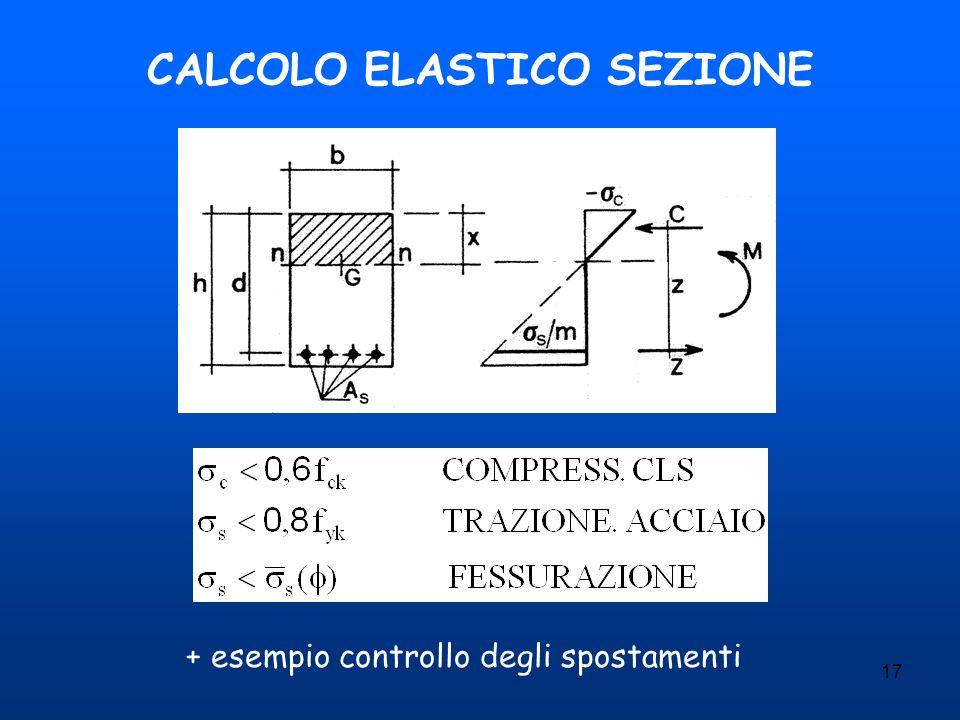 CALCOLO ELASTICO SEZIONE