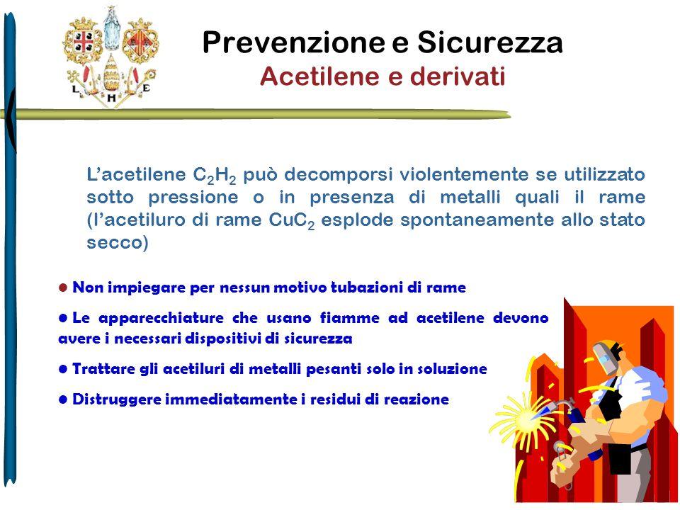 Prevenzione e Sicurezza Acetilene e derivati
