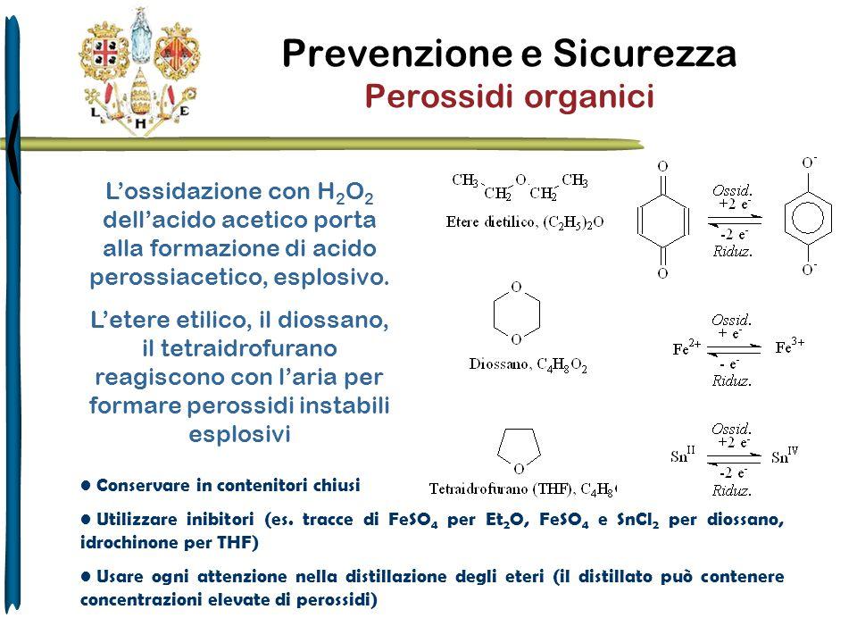 Prevenzione e Sicurezza Perossidi organici