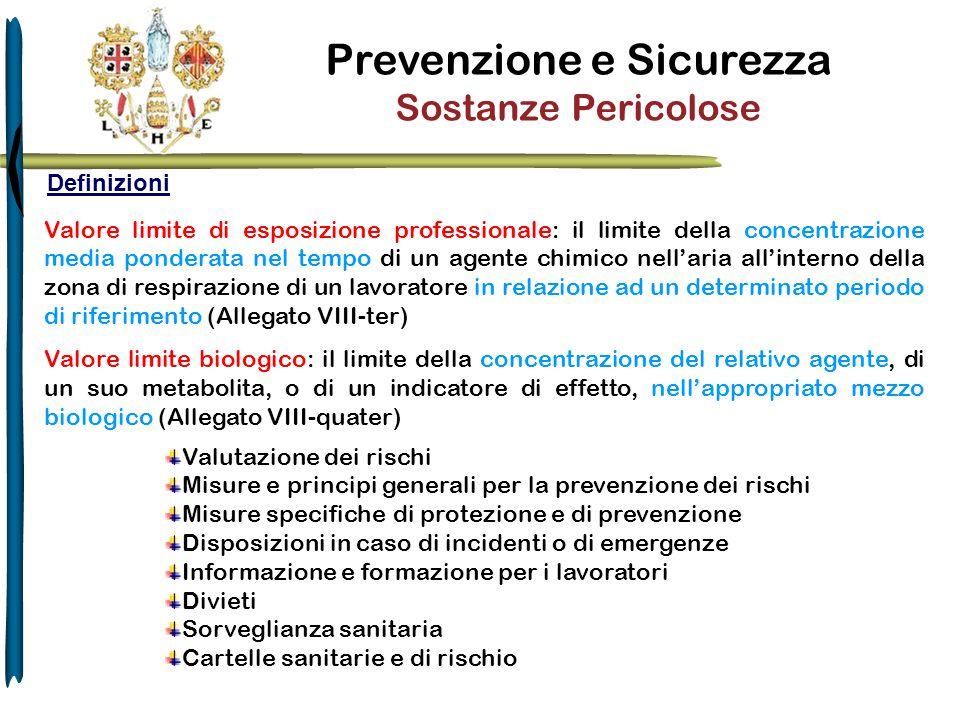 Prevenzione e Sicurezza Sostanze Pericolose