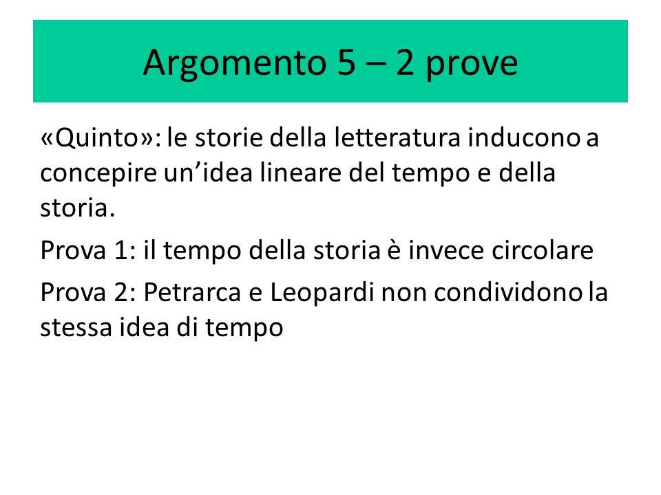 Argomento 5 – 2 prove