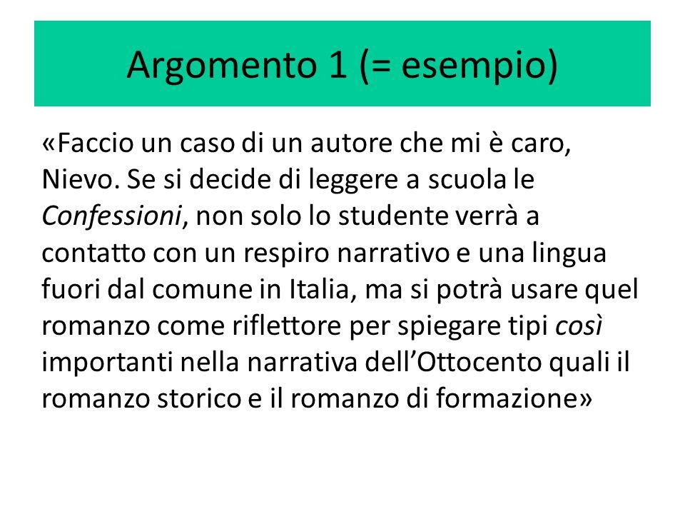 Argomento 1 (= esempio)