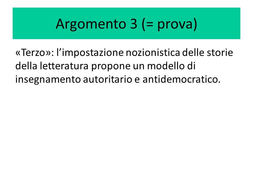 Argomento 3 (= prova)