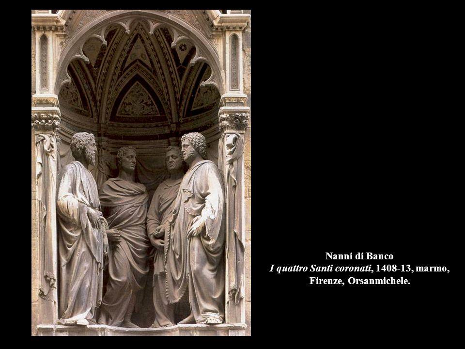 Nanni di Banco I quattro Santi coronati, 1408-13, marmo, Firenze, Orsanmichele.