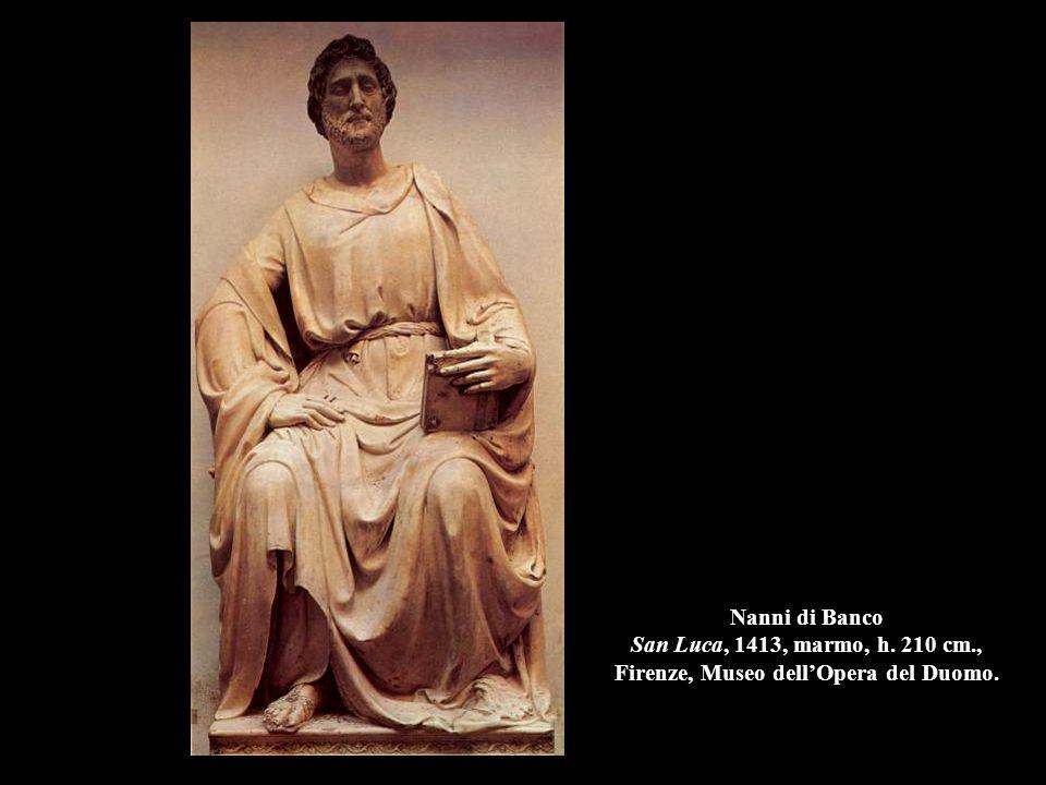 Nanni di Banco San Luca, 1413, marmo, h. 210 cm