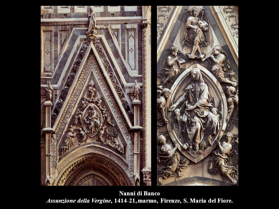 Nanni di Banco Assunzione della Vergine, 1414-21, marmo, Firenze, S